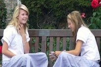 Girls on Bench